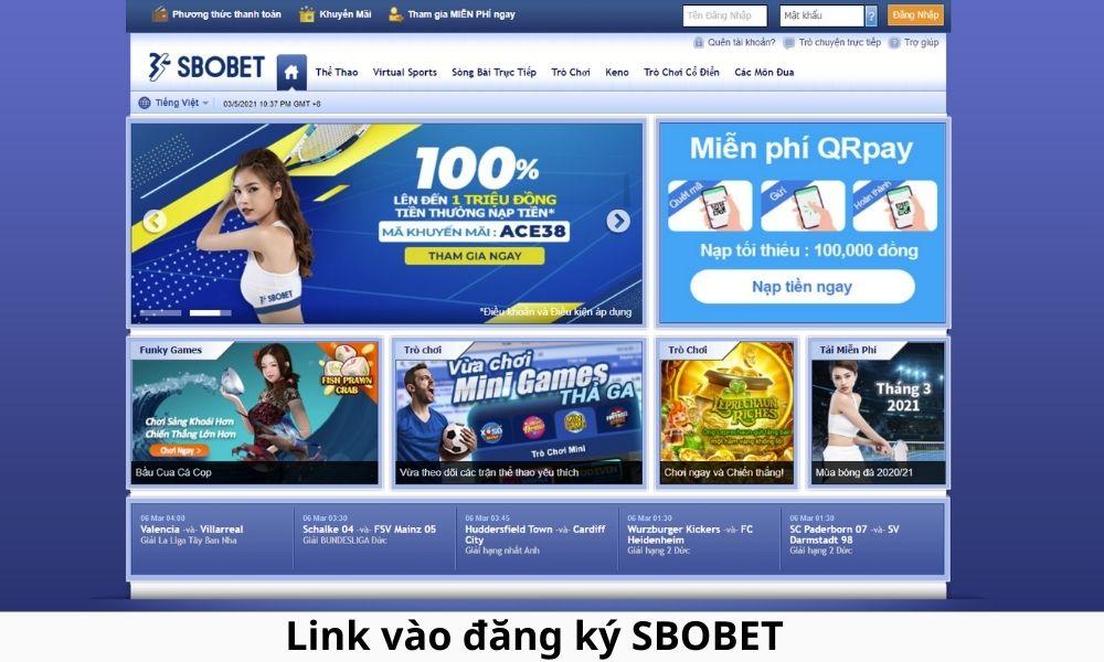 Link vào đăng ký SBOBET