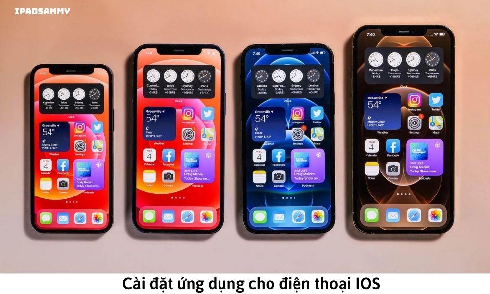 Cài đặt ứng dụng cho điện thoại IOS
